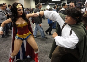 Wonder Woman versus a Hobbit